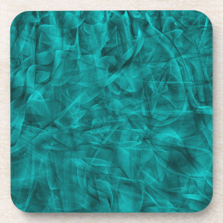 abstract-530844 abstract teal blue shiny swirls ba drink coaster