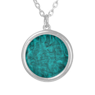 abstract-530844 abstract teal blue shiny swirls ba necklaces