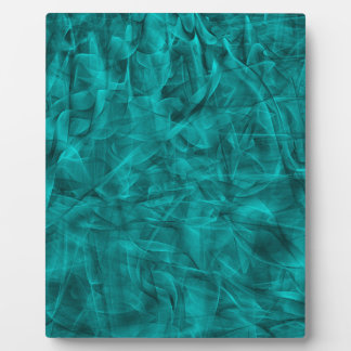 abstract-530844 abstract teal blue shiny swirls ba photo plaque