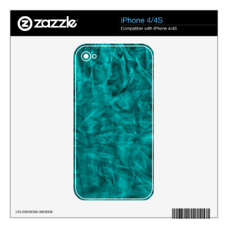 abstract-530844 abstract teal blue shiny swirls ba decal for iPhone 4