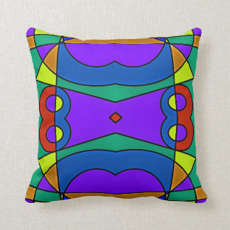 Abstract #563 throw pillow