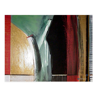 abstract 5 postcard