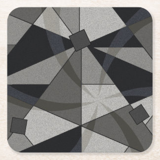 ABSTRACT 60'S GREY COASTER