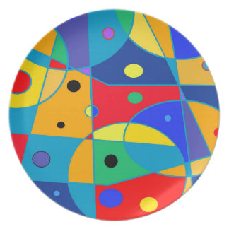 Abstract #69 melamine plate