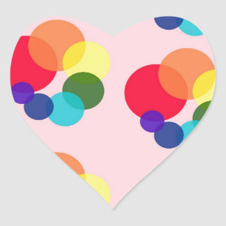 abstract #6 heart sticker