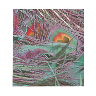 Abstract 70s Peafowl Notepad