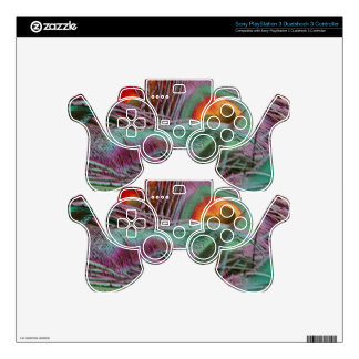 Abstract 70s Peafowl Skins For PS3 Controllers