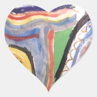 Abstract 715 heart sticker