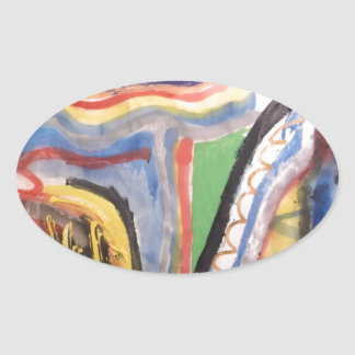 Abstract 715 oval sticker