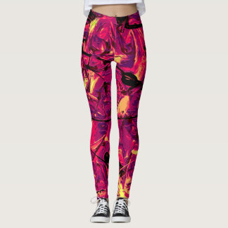 Abstract #787 leggings
