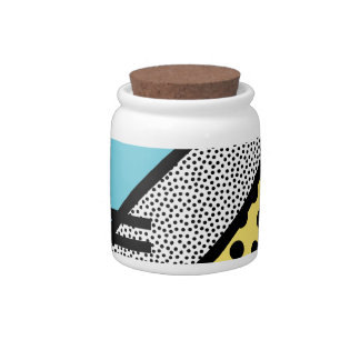 Abstract 80s memphis pop art style graphics candy jar