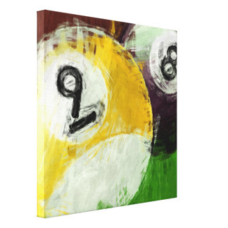 Abstract 8 and 9 Ball Canvas Print
