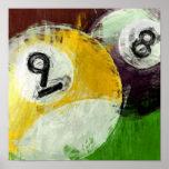 Abstract 8 and 9 Ball Print