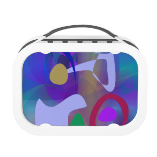 Abstract Abstract Blue Hue Yubo Lunchbox
