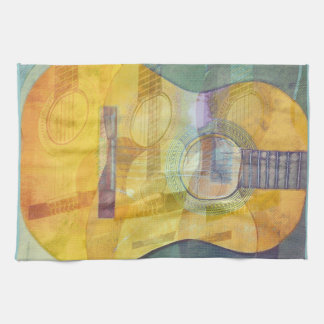 Abstract Acoustic Guitar American MoJo Kitchen Tow Hand Towels