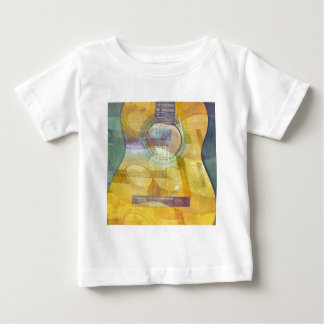 Abstract Acoustic Guitar Baby T-Shirt