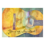 Abstract Acoustic Guitar Invitation