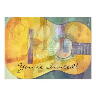 "Abstract Acoustic Guitar Invitation 5"" X 7"" Invitation Card"