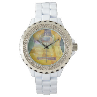 Abstract Acoustic Guitar Watch