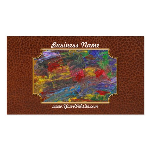 Abstract - Acrylic - Anger Joy Stability Business Card Template