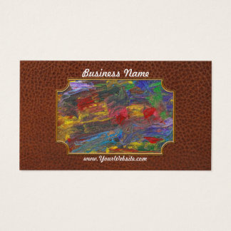 Abstract - Acrylic - Anger Joy Stability Business Card