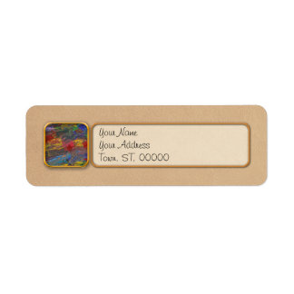 Abstract - Acrylic - Anger Joy Stability Label