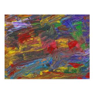 Abstract - Acrylic - Anger Joy Stability Postcard