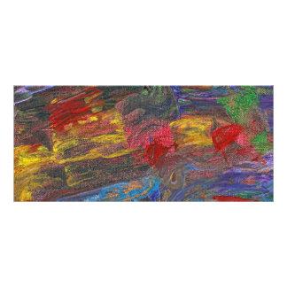 Abstract - Acrylic - Anger Joy Stability Custom Rack Card