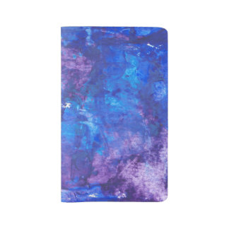 Abstract Acrylic Design - Blue Thoughts Large Moleskine Notebook Cover With Notebook