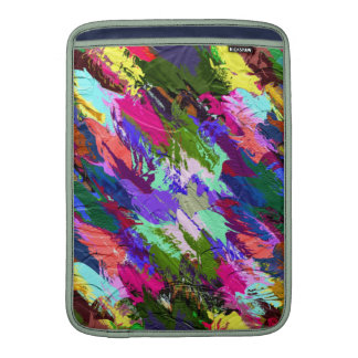 Abstract Acrylic Hand Painted Background MacBook Air Sleeve