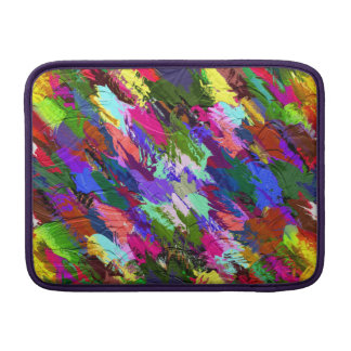 Abstract Acrylic Hand Painted Background Sleeve For MacBook Air