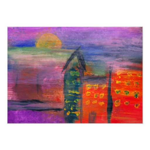 Abstract - Acrylic - Lost in the city Custom Announcement