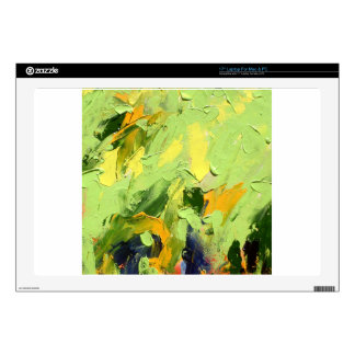 """ABSTRACT ACRYLIC PAINTING ON CANVAS 17"""" LAPTOP DECAL"""