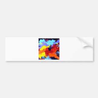 ABSTRACT ACRYLIC PAINTING ON CANVAS CAR BUMPER STICKER