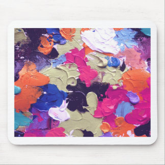 ABSTRACT ACRYLIC PAINTING ON CANVAS MOUSE PAD