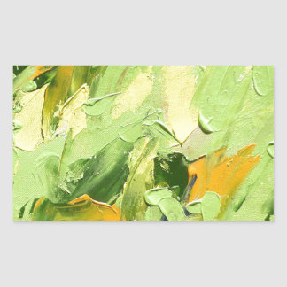 ABSTRACT ACRYLIC PAINTING ON CANVAS RECTANGULAR STICKER