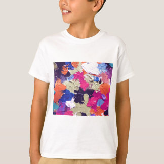 ABSTRACT ACRYLIC PAINTING ON CANVAS T-Shirt