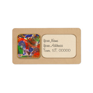 Abstract - Acrylic - Synthesis Label