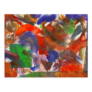 Abstract - Acrylic - Synthesis Postcard
