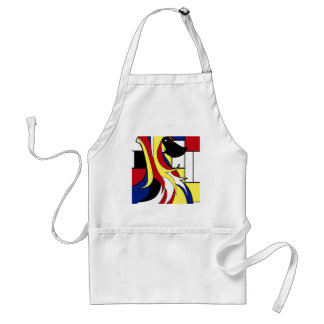 Abstract Afghan Hound Adult Apron