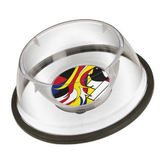 Abstract Afghan Hound Bowl