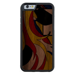 Carved ® iPhone 6 Bumper Wood Case with Afghan Hound Phone Cases design