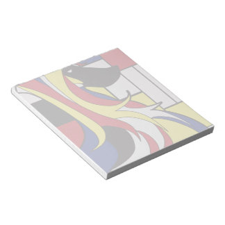 Abstract Afghan Hound Notepad