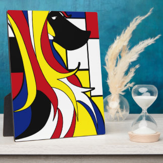 Abstract Afghan Hound Plaque