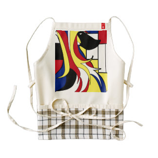 Abstract Afghan Hound Zazzle HEART Apron