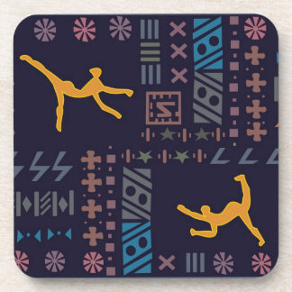Abstract African art Beverage Coaster