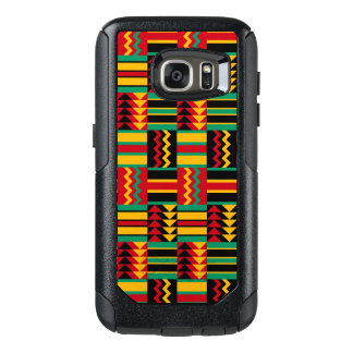 Abstract African Kente Cloth Pattern Red Yellow OtterBox Samsung Galaxy S7 Case