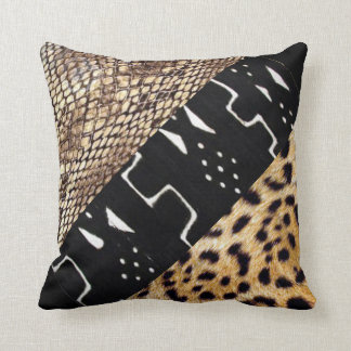 Abstract:  African Leopard, Snake Skin Pillow