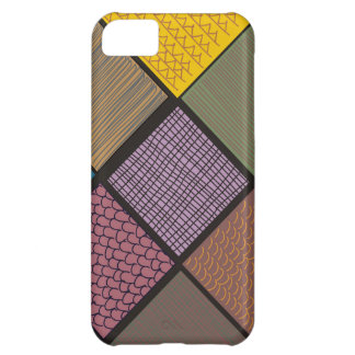 Abstract African quilt patchwork Case For iPhone 5C