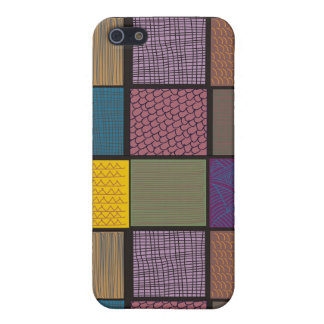 Abstract African quilt patchwork iPhone SE/5/5s Case